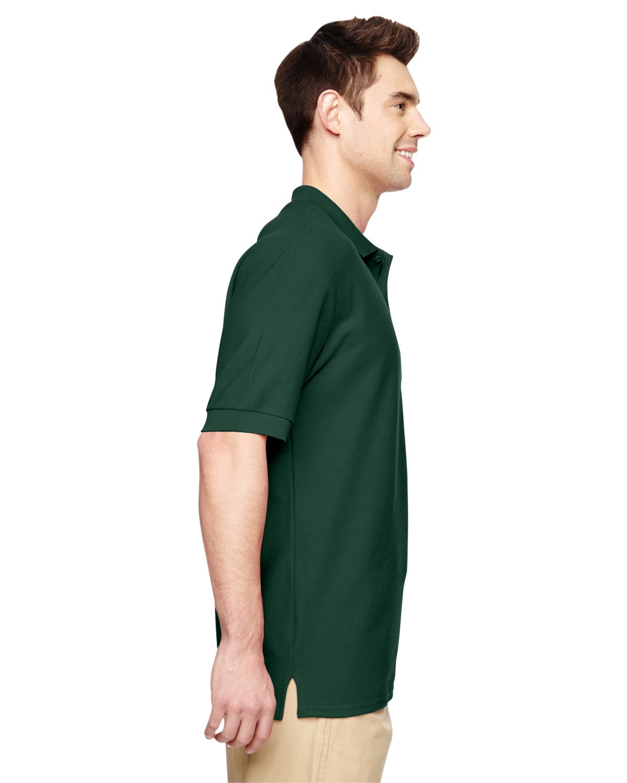 Gildanメンズダブルニードルサイドシームピケポロシャツ B01CD0YT9C 4L|フォレストグリーン フォレストグリーン 4L