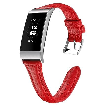 samLIKE Pulsera de Piel Fitbit Charge 3, para Hombre y Mujer, de ...