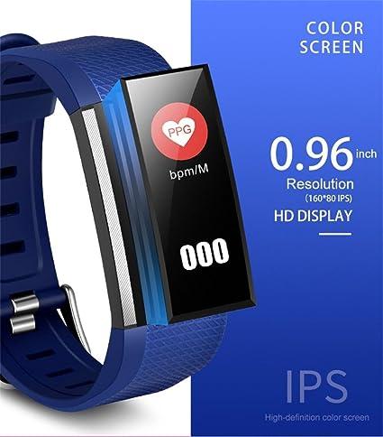 Reloj inteligente Diadia M200 de 0,96 pulgadas, pulsera inteligente de seguimiento de fitness, presión arterial, ...