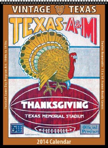 2014 Texas Longhorns Football - Texas Longhorns 2014 Vintage Football Calendar