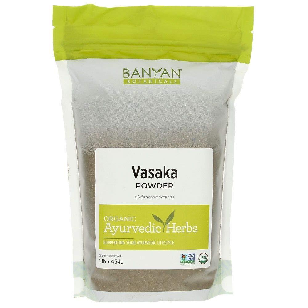 Banyan Botanicals Vasaka Powder - Certified Organic, 1 Pound - Adhatoda vasica - Supports proper function of the lungs and healthy respiration*