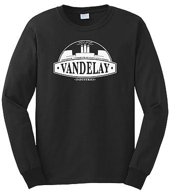 Cybertela Mens Vandelay Industries Long Sleeve T Shirt Black Small