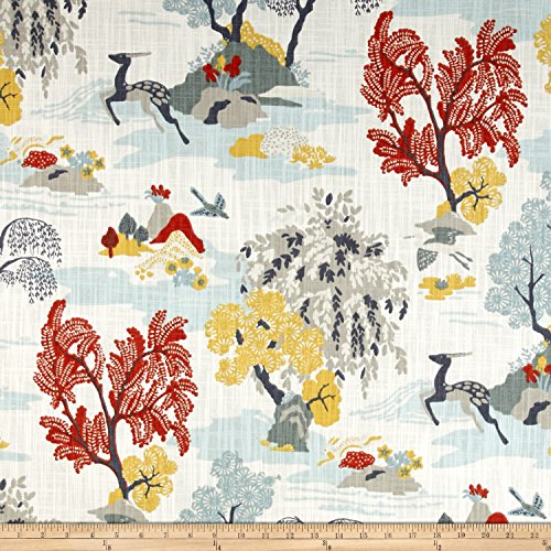 (Dwell Studio Modern Toile Canvas Fabric, Persimmon)