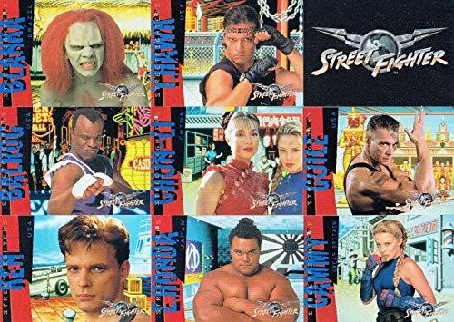 STREET FIGHTER MOVIE 1994 UPPER DECK COMPLETE BASE CARD SET OF 90 ()