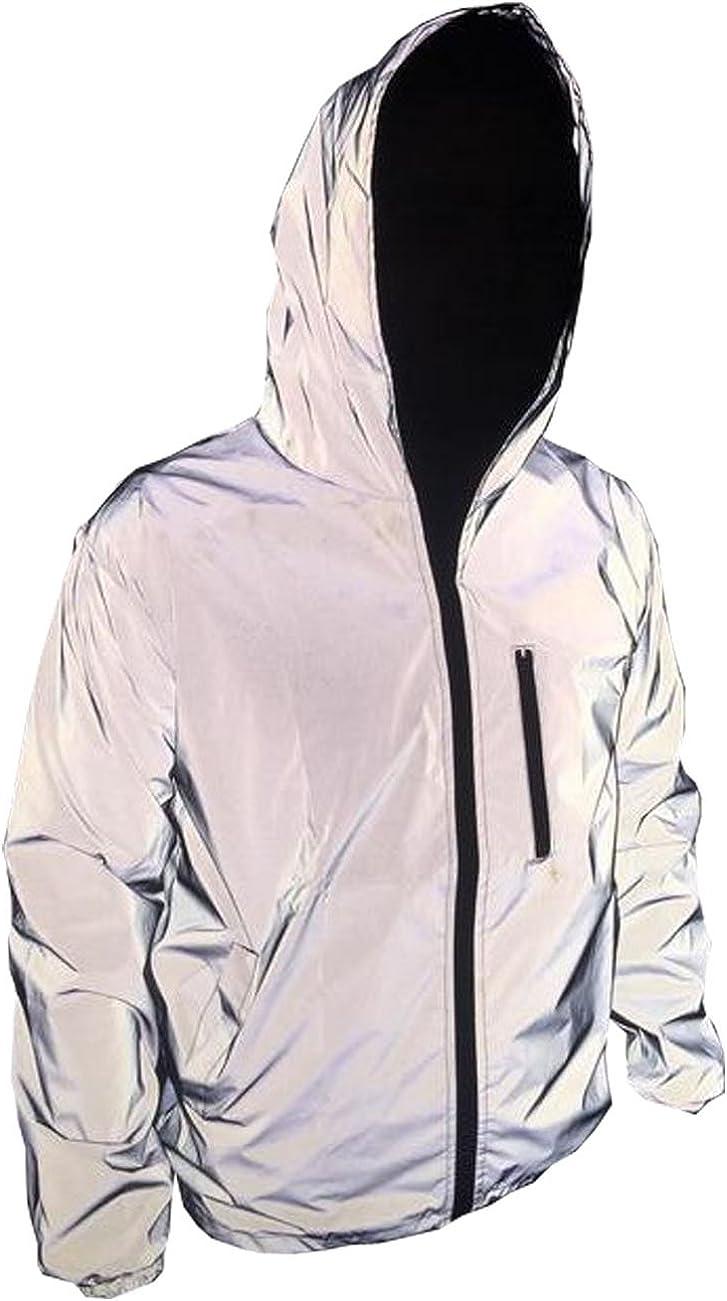 TR Mens 3M Super Bright Reflective Jacket Coat