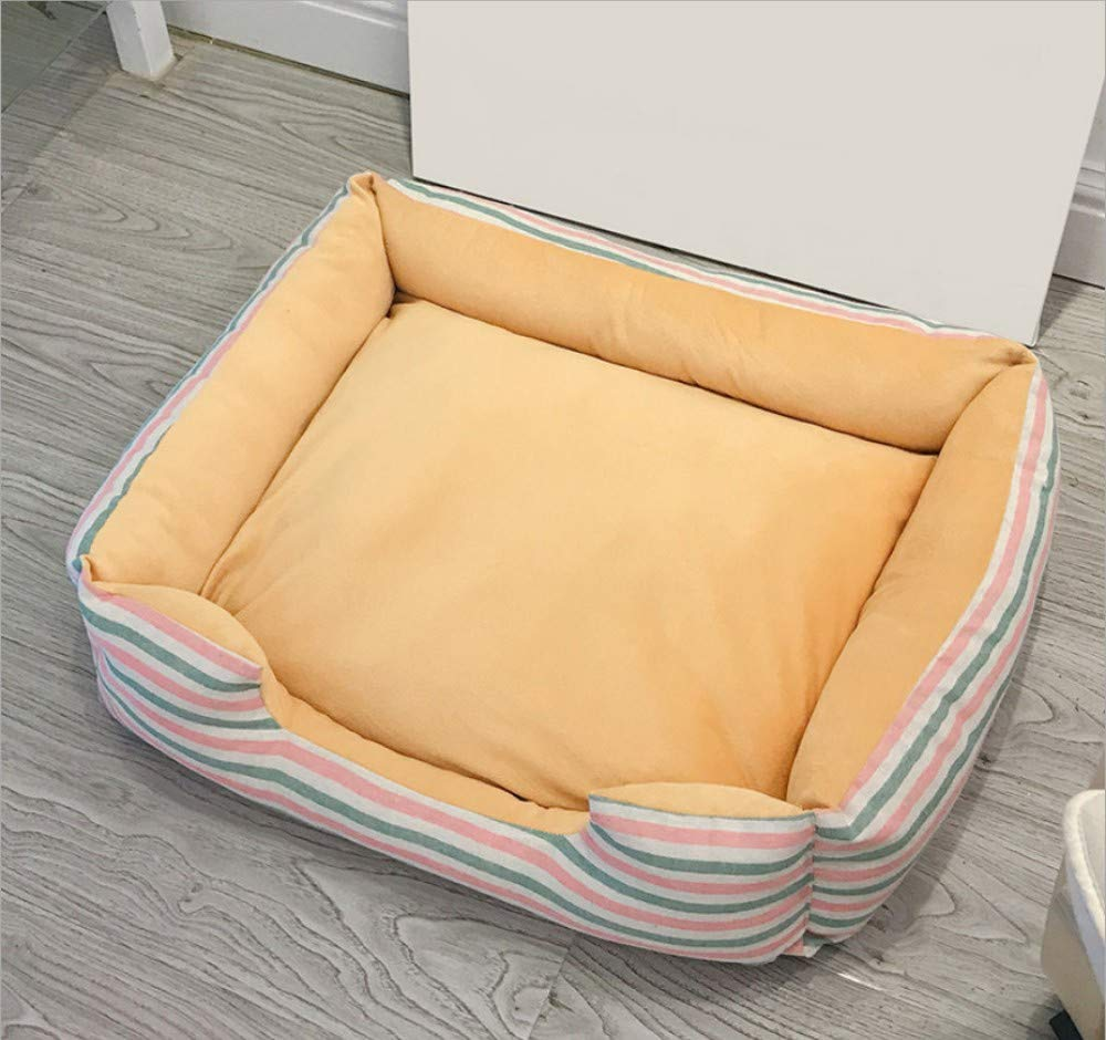 F S(50X35X8CM)GZDXHN Dog House Removable Cat Nest Teddy Pet Nest Than Xiong Bomei Law Fighting Big Dog Available Nest Bed Four Seasons Autumn And Winter