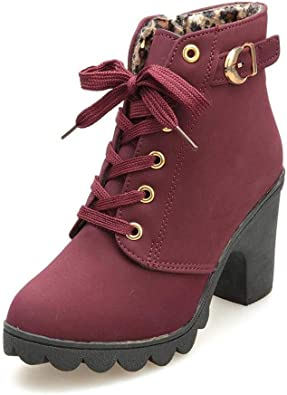 SNIDEL Women Ankle Martin Boots Lace Up