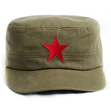 9ab7118a4a2 Che Guevara Store Military Hat Army Green Adjustable Embroidered Red ...