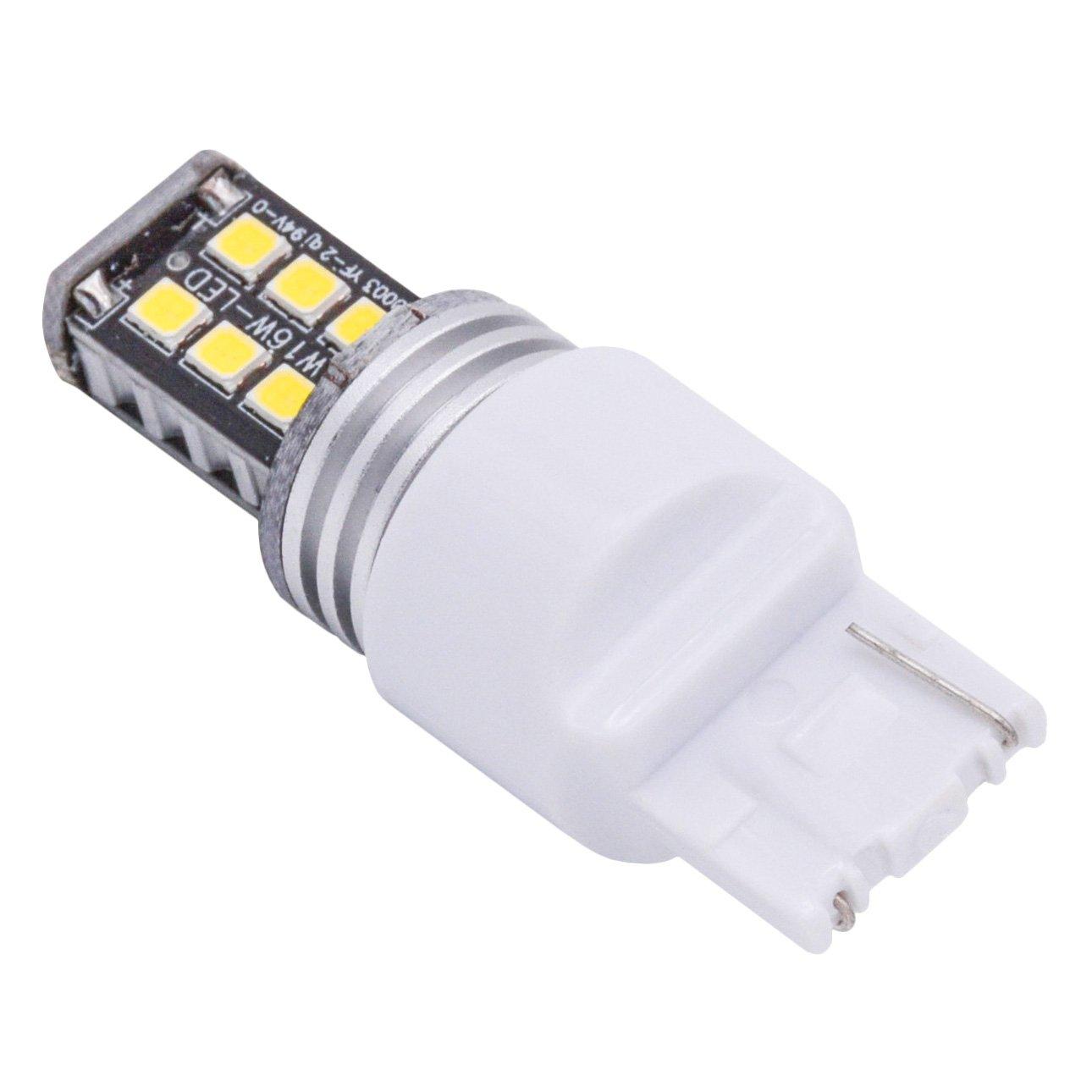 KaTur 2pcs High Power 800 Lumens Super Bright 7440 7440NA 7441 992 LED 15SMD 2835 Backup Reverse Tail Brake Lights Parking LED Blubs DC 12V Red
