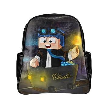 dantdm todos los Mods Youtube Gamer Custom y organizador mochila estudiantes escuela bolsa por W-