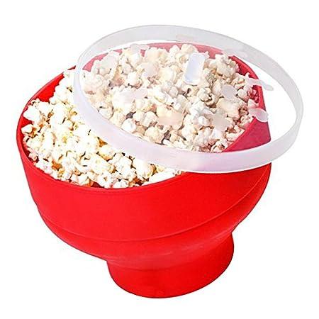 eizur Microondas palomitas silicona Popcorn Popper plegable ...