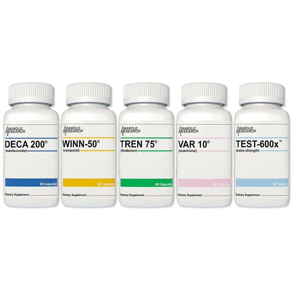 Combo Stack - 1 of Each Product - Test600x, Winn50, Tren75, Var10 & Deca200.