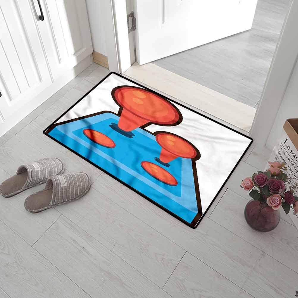 Back Door High Traffic Areas 24 x 47 Inch Pointing Finger Play Message Original Durable Rubber Door Mat for Mud Room SCOCICI1588 Welcome Doormats Gamer