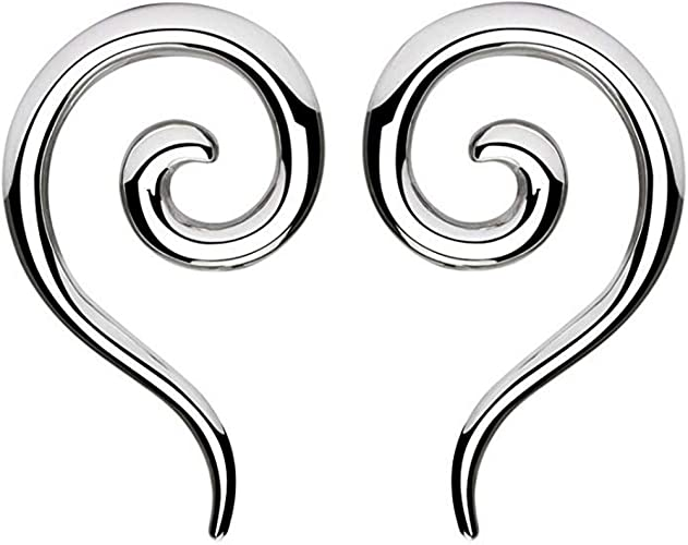 BYB Plugs Pair of Surgical Steel Ear Stretching Spiral Tapers