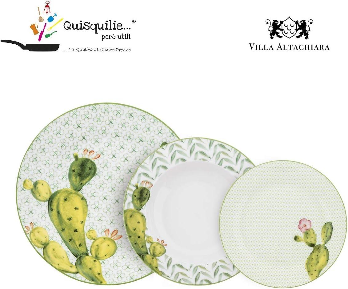 FINISSIMA Porcellana Colorata Villa Altachiara Servizio Piatti 18 Pezzi Modello Galapagos