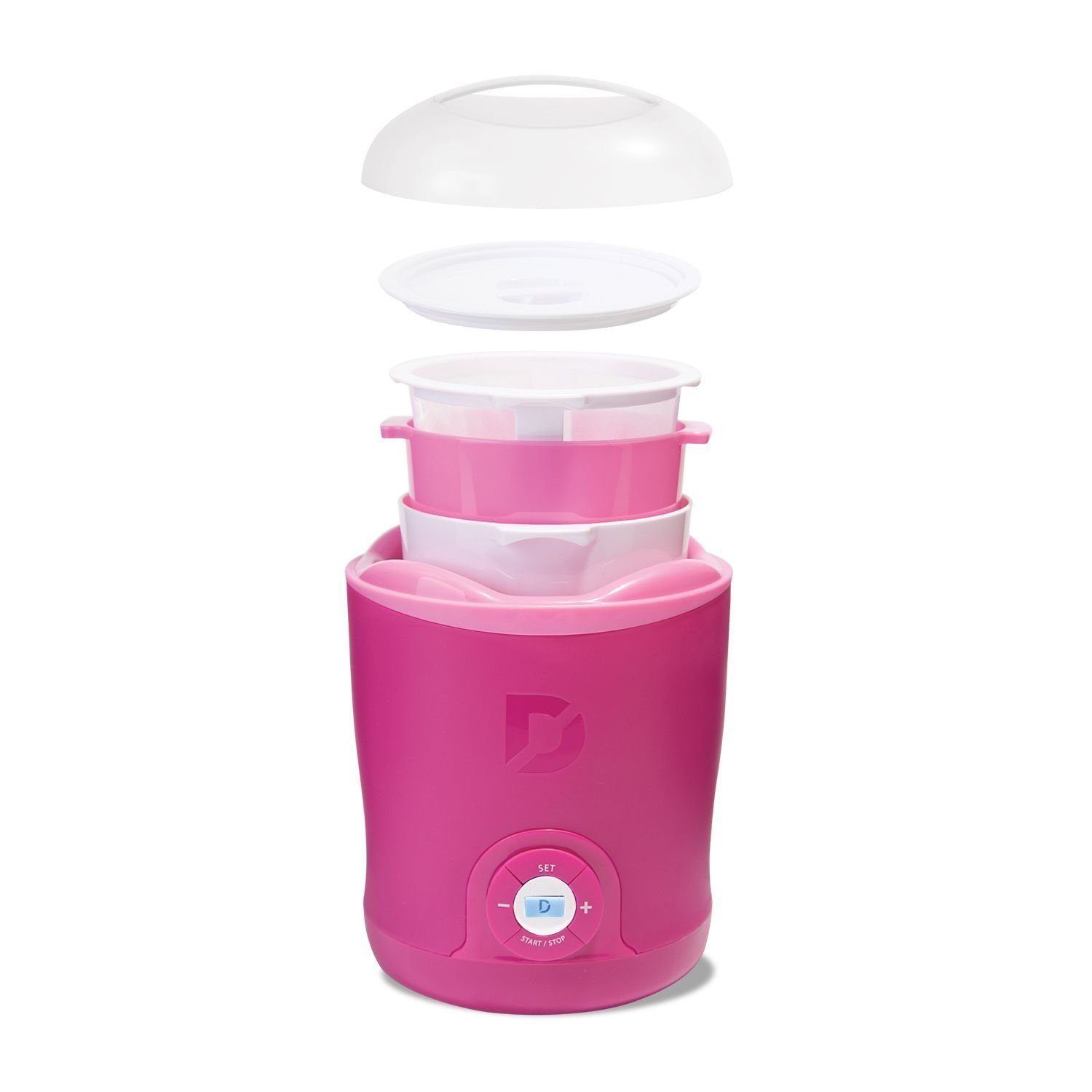 Dash Greek Yogurt Maker Bonus Pack Pink