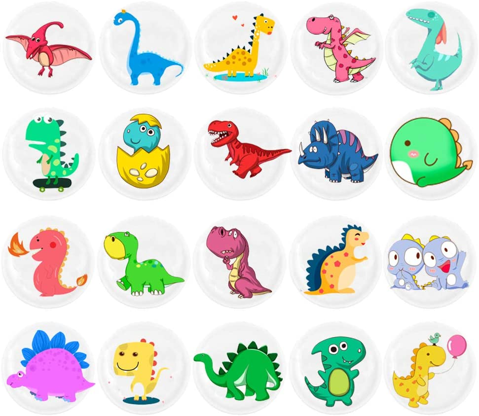 HSJH Refrigerator Magnets 22pack Colorful Beautiful Dinosaur Emoji Fridge stickers Funny for Office Cabinets Whiteboards Decorative Photo Kids And Adults Gift (22 Dinosaur)