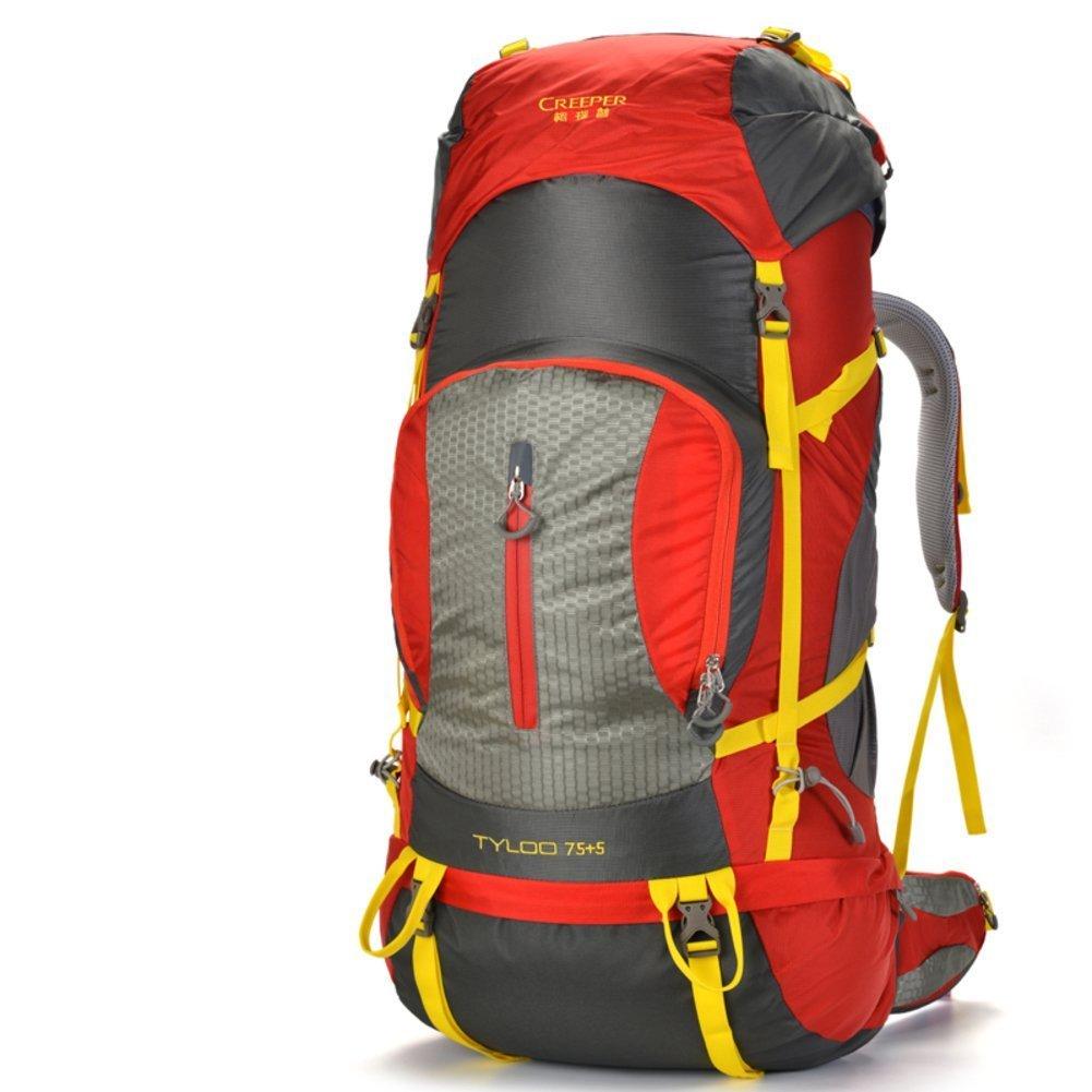 ALUK-Outdoor-Klettern Tasche / Reisetasche Schultern / 80L Tactical / Outdoor-Camping-Wanderrucksack-rot 80L