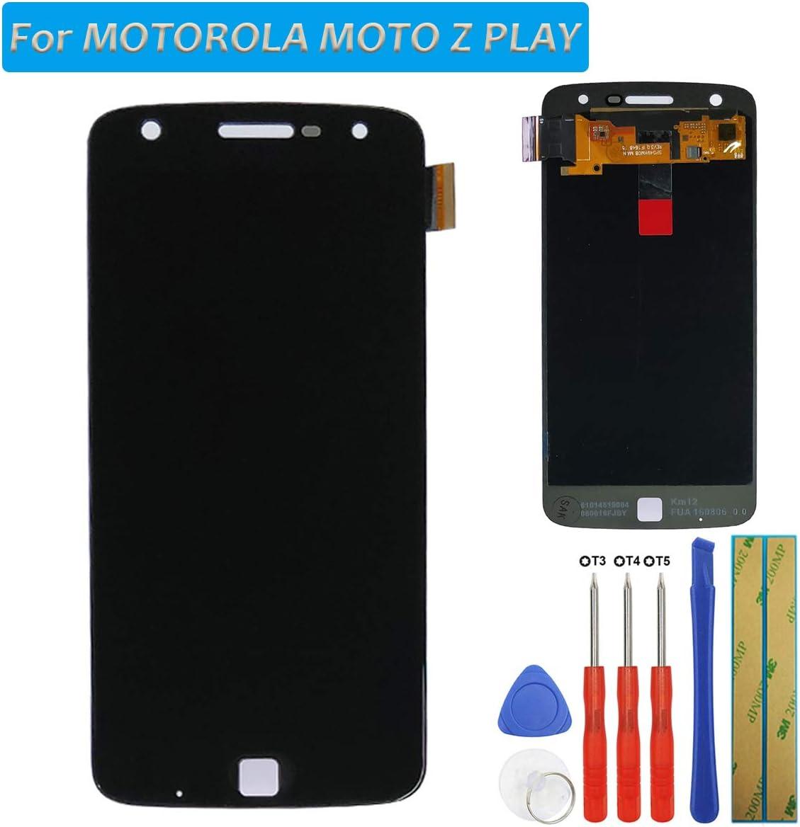 melph yreal para Motorola Moto Z Play AMOLED Pantalla Táctil Cristal Repuesto Pantalla LCD digitalizador (Negro) + Herramientas: Amazon.es: Electrónica