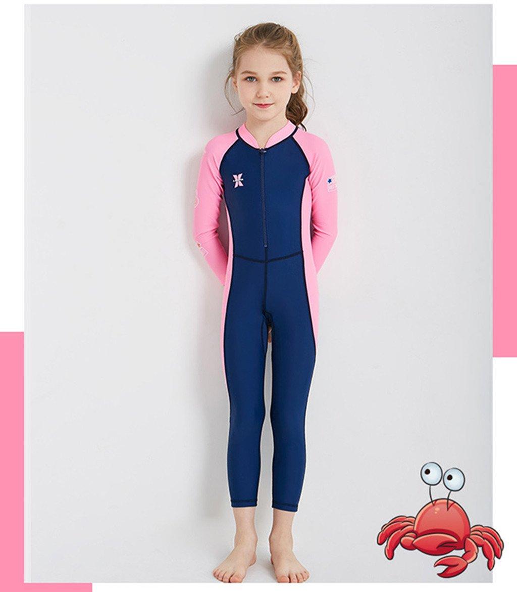 b1aadab25e Amazon.com: Boy Girl Wetsuit Swimsuit Kids Swimwear Long Sleeve ...