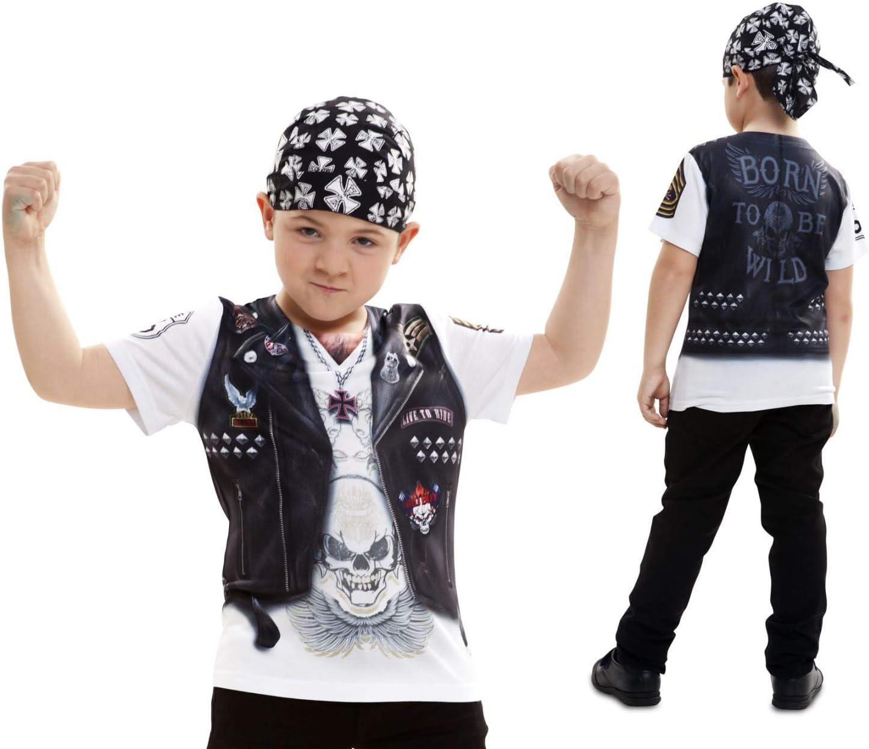 Disfraz Camiseta de Motero Original de Carnaval para niño de 8-10 ...