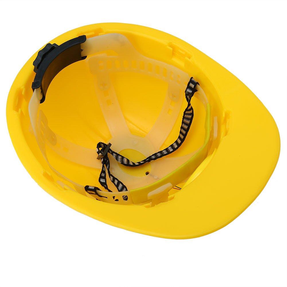 SOULONG Casque de S/écurit/é Chantier R/églable Casque de Protection avec Ventilateur de Refroidissement Solaire Casque de Construction Jaune pour Travailleur Ext/érieur