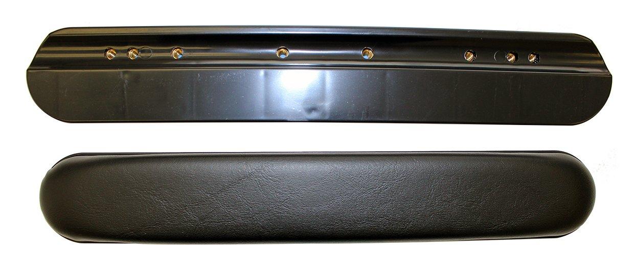 One Pair of Black Vinyl Full Length Padded Wheelchair Armrests, Universal Fit