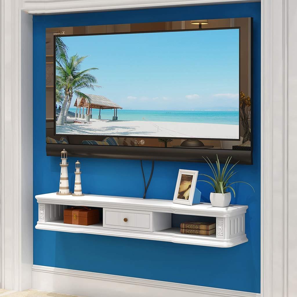 GLJJQMY ウォールテレビキャビネット収納ラック装飾ボックスウォールマウントDVDセットトップボックス衛星TVボックスケーブルボックスフローティング棚 ウォールマウントシェルフ (色 : C, サイズ さいず : 140cm) B07QG9RSDD C 140cm