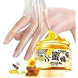 XY Fancy Hands Care ParaffinMilk & Honey Moisturizing Peel Off Hand Wax Mask Hydrating Exfoliating Nourish Whitening Skin 5.3 oz