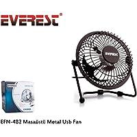 Everest EFN-482 Masaüstü Metal Usb Fan, Siyah