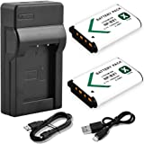 NP-BX1 Battery & Charger, BPS 2pcs NPBX1 Li-ion Battery + USB Charger for Sony Cyber-Shot DSC-WX350, DSC-HX400/HX500/RX100/RX100 II/RX100 III/RX100 IV/RX100 V Digital Cameras
