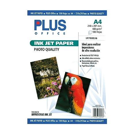 Amazon.com: Plus Office papel para impresora de inyección ...
