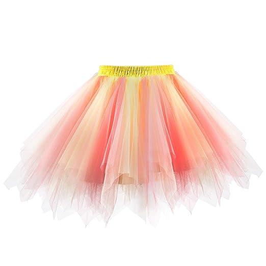 Women Short Wedding Bridal Petticoat Crinoline Tutu Tulle Skirt Underskirt New