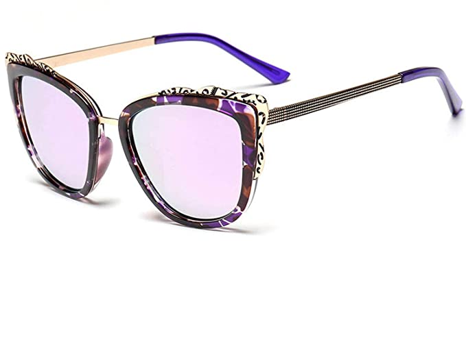 Amazon.com: Elegantes gafas de sol de metal de color con ...