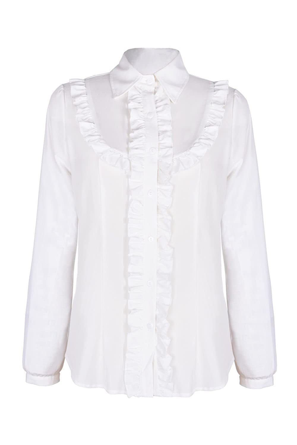 Edwardian Style Blouses  Long Sleeve Shirts Blouse Tops $25.99 AT vintagedancer.com