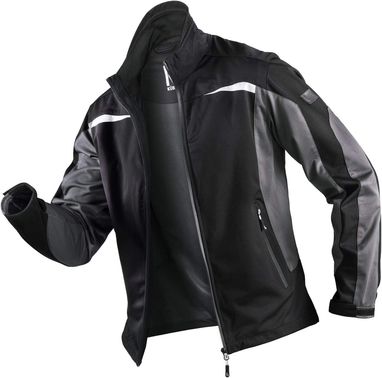 K/ÜBLER Workwear K/ÜBLER Weather Ultrashell-Arbeitsjacke schwarz Unisex-Arbeitsjacke aus Mischgewebe Funktionelle Ultrashell-Arbeitsjacke Gr/ö/ße 3XL