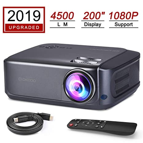 Amazon.com: OKCOO Proyector de vídeo, 4500 Lux Multimedia ...