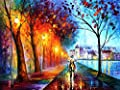 """CITY BY THE LAKE-LIMITED EDITION-WALL ART ORIGINAL OIL PAINTING PRINT SIGNED By Leonid Afremov-SIZE 40""""X30"""""""