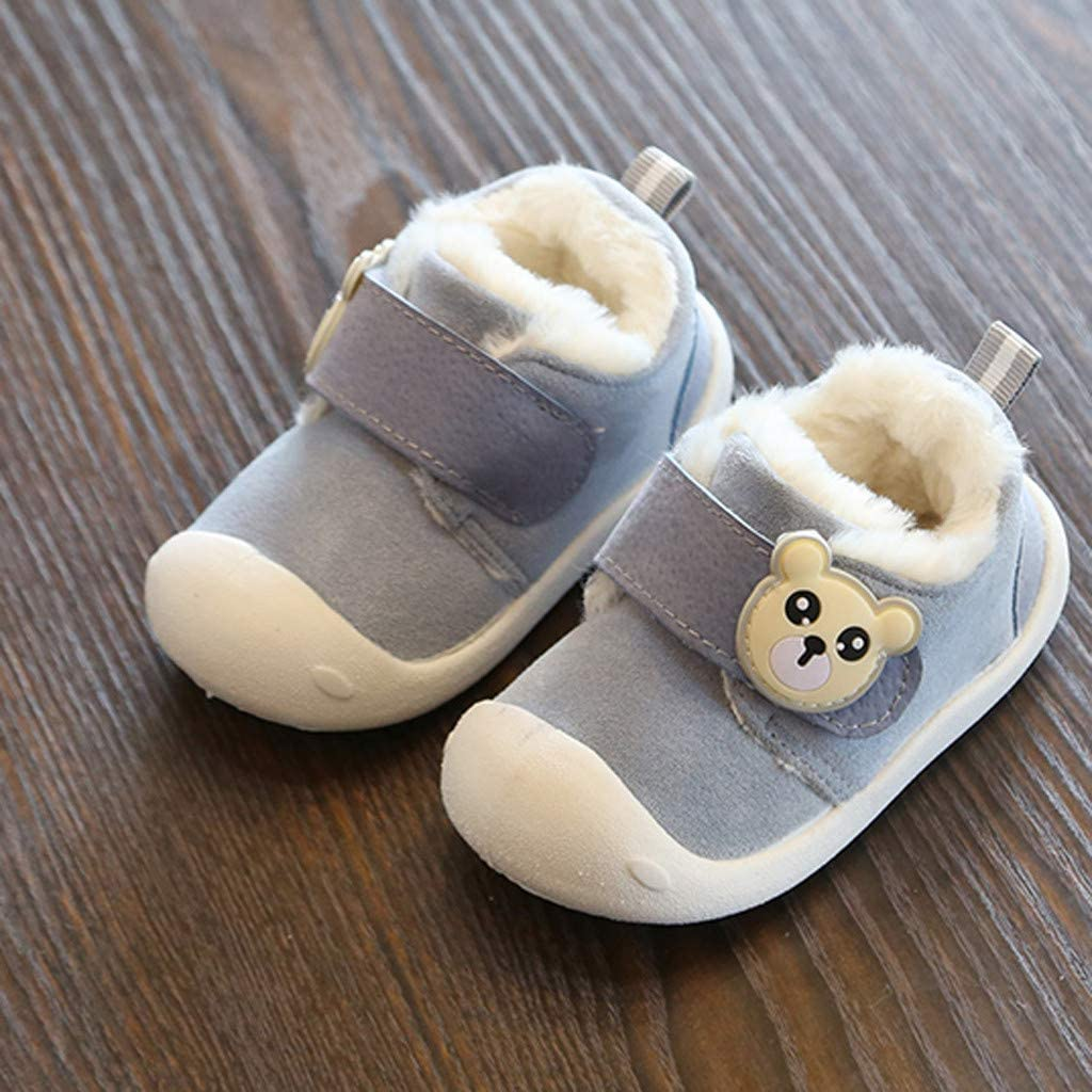 Infant Shoes Cute Bear Walking Shoes Pre Walkers 2019 Winter Warm Booties Little Kids for 6 Months 4.5 Years Igemy Baby Boys Girls Soft Sole Shoes