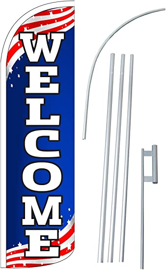 Ground Spike SuperFlex 15 Foot Tall Universal Swooper Feather Flag Pole