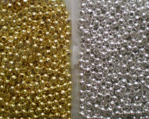 1000pcs Mix Silver/Gold Plated Tiny Metal Spacer Round Beads 3.2mm~Jewelry Making~ by Beading Station