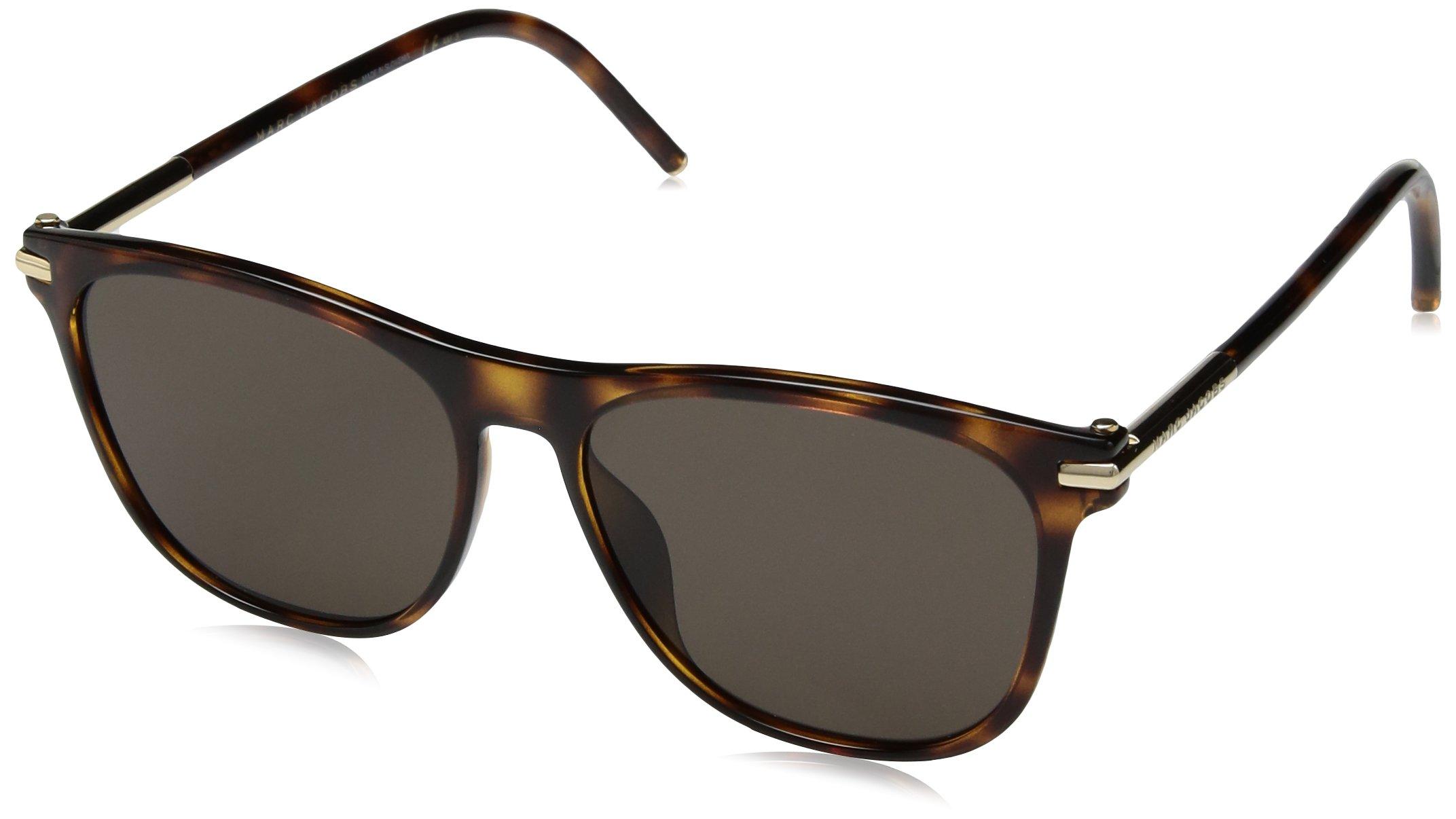 Marc Jacobs Women's Marc49s Square Sunglasses, Havana/Brown, 54 mm