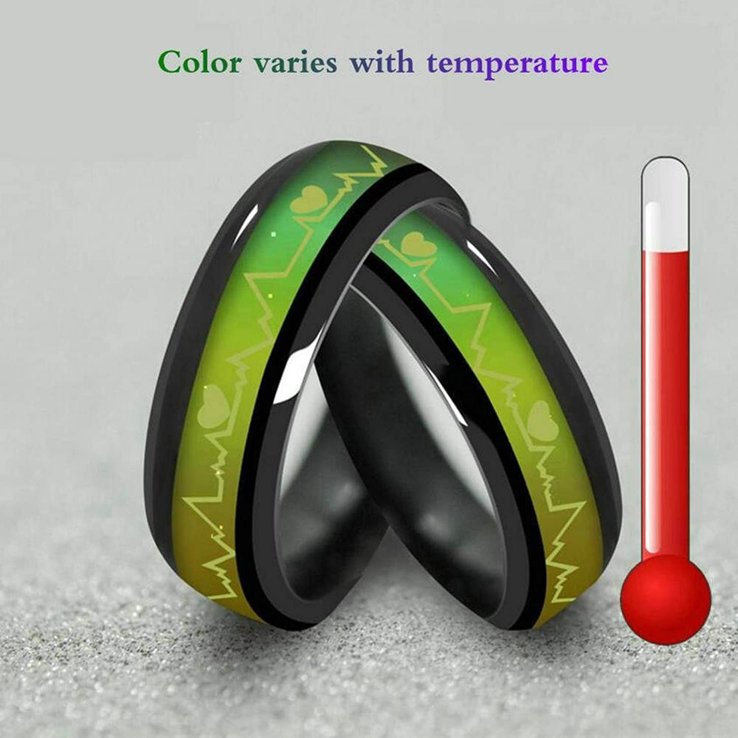 Amazon titanium steel mood rings for lovers emotional change amazon titanium steel mood rings for lovers emotional change color temperature feeling heartbeat ecg rings jewelry nvjuhfo Choice Image