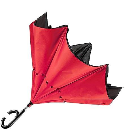 Paraguas inverso reversible, diseño de fantasía, apertura automática en el sentido contrario a la