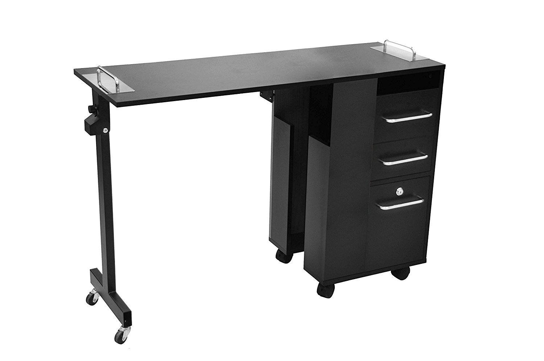 Manicure Table (Black) Versatile, Rolling - Taylor
