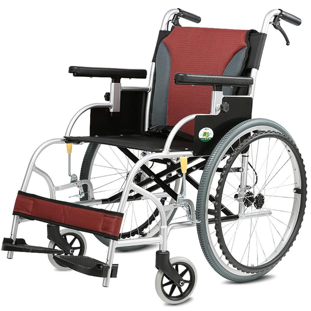 【楽ギフ_のし宛書】 FEIFEI アルミ合金ポータブル車椅子折りたたみ軽量車いす高齢者車椅子 B07GWLTCDW FEIFEI B07GWLTCDW, お値打ち本舗:f9c7f465 --- a0267596.xsph.ru
