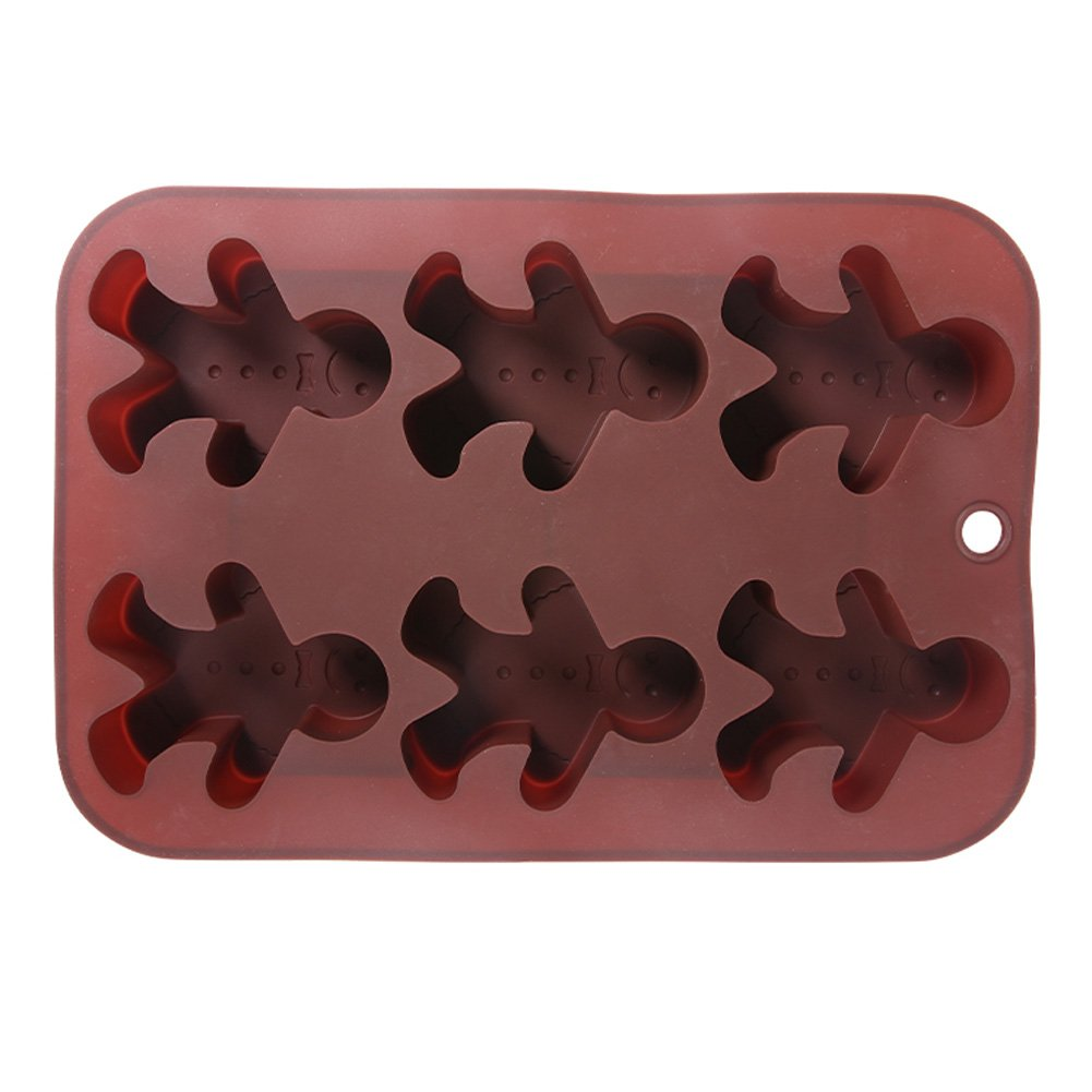Generic Silicone Chocolat Moules Bonhomme En Pain D/épice Plats /À Four Lave-vaisselle