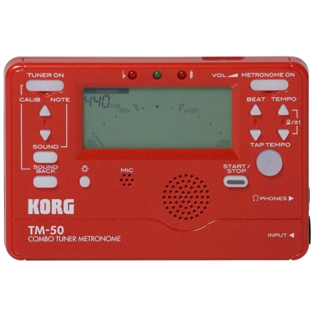 Amazon.com: Korg TM-50 Combo Instrument Tuner and Metronome (Red): Musical Instruments