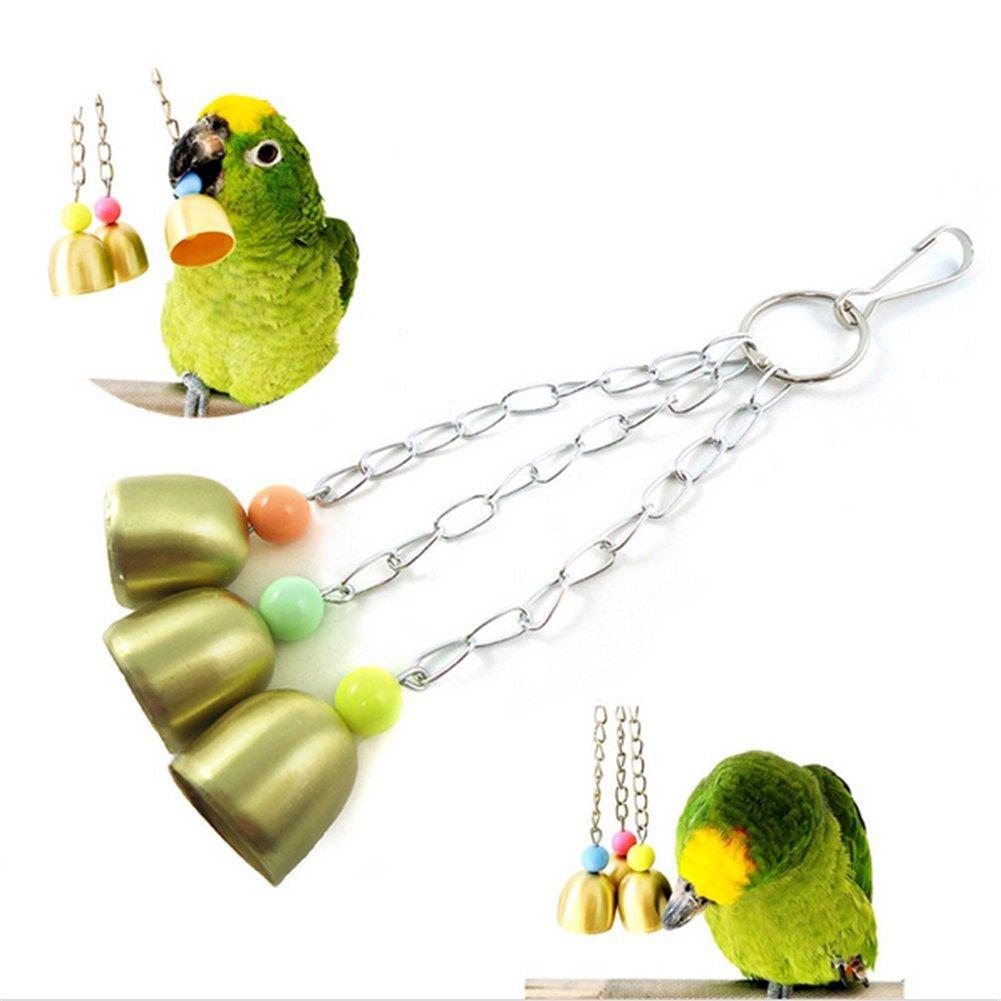 milopon Papagayo juguete loros periquitos Periquito Pájaros kauspielzeug con campanas
