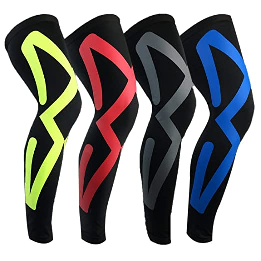 ... Piece Unisex Basketball Leg Shin Guards Climbing Protective Calf Sleeve Cycling Running Calcetines Sports Kneepad - Black & Red XL : Sports & Outdoors